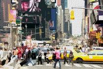 Block USA 2008 – Set 019 – Bild A – Times Square – Yellow Cab von Peter Heiko Wassenberg