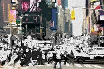 Block USA 2008 – Set 019 – Bild C – Times Square – Yellow Cab von Peter Heiko Wassenberg