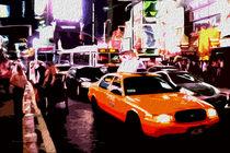 Block USA 2008 – Set 020 – Bild A – Times Square – Yellow Cab von Peter Heiko Wassenberg