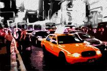 Block USA 2008 – Set 020 – Bild B – Times Square – Yellow Cab by Peter Heiko Wassenberg