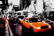 Block USA 2008 – Set 020 – Bild C – Times Square – Yellow Cab by Peter Heiko Wassenberg