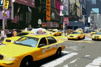Block USA 2008 – Set 021 – Bild A – Times Square – Yellow Cab von Peter Heiko Wassenberg