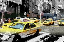 Block USA 2008 – Set 021 – Bild B – Times Square – Yellow Cab by Peter Heiko Wassenberg