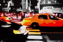 Block USA 2008 – Set 022 – Bild B – Times Square – Yellow Cab by Peter Heiko Wassenberg