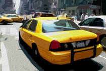 Block USA 2008 – Set 023 – Bild A – Times Square – Yellow Cab von Peter Heiko Wassenberg