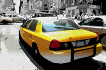 Block USA 2008 – Set 023 – Bild B – Times Square – Yellow Cab von Peter Heiko Wassenberg