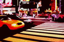 Block USA 2008 – Set 024 – Bild A – Times Square – Yellow Cab by Peter Heiko Wassenberg