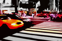 Block USA 2008 – Set 024 – Bild B – Times Square – Yellow Cab by Peter Heiko Wassenberg