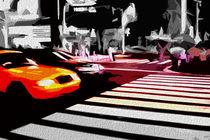 Block USA 2008 – Set 024 – Bild C – Times Square – Yellow Cab by Peter Heiko Wassenberg
