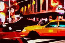 Block USA 2008 – Set 026 – Bild A – Times Square – Yellow Cab von Peter Heiko Wassenberg