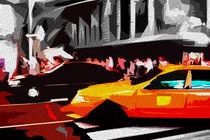 Block USA 2008 – Set 026 – Bild B – Times Square – Yellow Cab von Peter Heiko Wassenberg