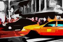 Block USA 2008 – Set 026 – Bild C – Times Square – Yellow Cab von Peter Heiko Wassenberg