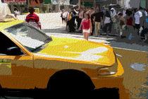 Block USA 2008 – Set 027 – Bild A – Times Square – Yellow Cab von Peter Heiko Wassenberg
