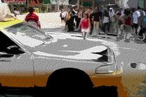 Block USA 2008 – Set 027 – Bild C – Times Square – Yellow Cab von Peter Heiko Wassenberg