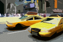 Block USA 2008 – Set 028 – Bild A – Times Square – Yellow Cab by Peter Heiko Wassenberg