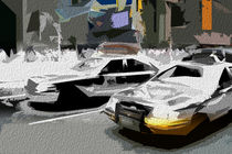 Block USA 2008 – Set 028 – Bild C – Times Square – Yellow Cab von Peter Heiko Wassenberg