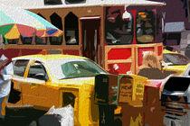 Block USA 2008 – Set 029 – Bild A – Times Square – Yellow Cab by Peter Heiko Wassenberg