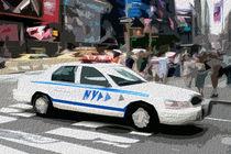 Block USA 2008 – Set 030 – Bild A – Times Square – Police Car by Peter Heiko Wassenberg
