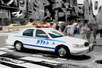 Block USA 2008 – Set 030 – Bild B – Times Square – Police Car by Peter Heiko Wassenberg