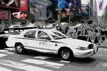 Block USA 2008 – Set 030 – Bild C – Times Square – Police Car by Peter Heiko Wassenberg
