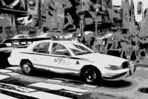 Block USA 2008 – Set 030 – Bild D – Times Square – Police Car by Peter Heiko Wassenberg