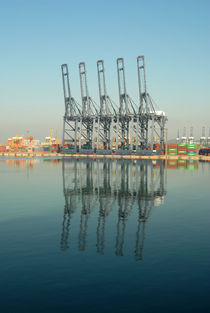Port cranes by Philip Shone