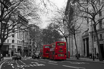 Red London Buses by David Pringle
