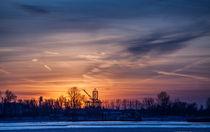 Sundown on river Elbe (Hamburg, Germany) von Arkadius Ozimek