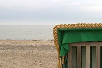Strandkorb außerhalb der Saison  von kunertus