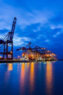 Containerterminal zur Blauen Stunde  von kunertus