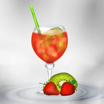 Cocktail Red Strawberry by Gina Koch