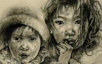 """""""PROTECT OUR CHILDREN"""" Series - """"Street Urchins"""" by Priscilla Tang"""