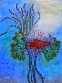 Feuerfisch (Aquarell) von Dagmar Laimgruber