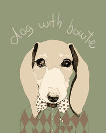 dog with bowtie von Cecilia Sanchez