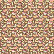 Chocolate Ice Cream Bird Pattern by Tasha Goddard
