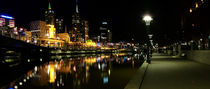 Melbourne at night by John Monteath
