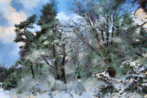 wintery landscape by Gina Koch