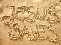 JESUS SAVES / JESUS RETTET von Sandra Yegiazaryan