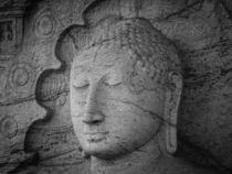 Seated Buddha statue in dhyana mudra pose at Gal Viharaya by Inez Wijker