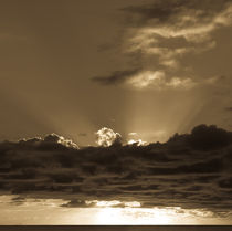 Sunset Soufriere (Sepia) by Inez Wijker