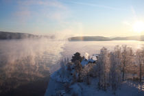Vapors rising from a freezing river von Intensivelight Panorama-Edition