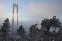 Suspension bridge in winter von Intensivelight Panorama-Edition