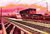 Bahnhof Schwanheide mit ICE von Arthur A. Keller