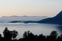 Calm sea at sunset in a fjord in northern Norway von Intensivelight Panorama-Edition
