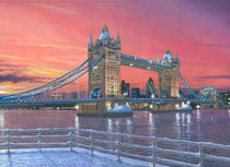Tower Bridge after the Snow von Richard Harpum