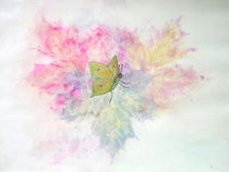 Frühlingserwachen (butterfly and leaves) von Dagmar Laimgruber