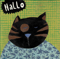 Hello cat! by Tine Diederich