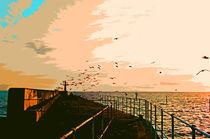 Harbour, sunset von Iain Clark
