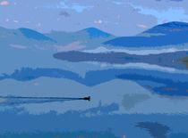 Duck on Loch Lomond, Scotland von Iain Clark