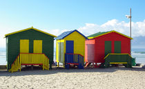 Colourful Beach Huts von Herman Stadler